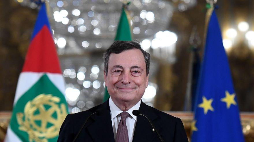 Mario Draghi consigue la confianza del Senado italiano, primer trámite para su investidura